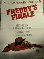 plakat freddy krueger a nightmare on elm street 6 poster robert englund horror