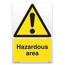 Hazardous Area - Self Adhesive Vinyl Sticker [A4 - 210mm x 297mm]