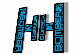 Marzocchi Bomber Z1 2018 Fork Suspension Sticker Decal Kit Adhesive Lime Blue