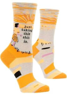 Whatever It Is I Could Do It Blue Q Women/'s Humorous Crew Combed Cotton Socks