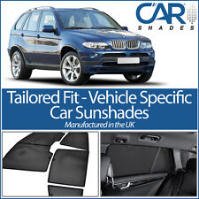 BMW X5 5dr 1999-2006 UV CAR SHADES WINDOW SUN BLINDS PRIVACY GLASS TINT BLACK