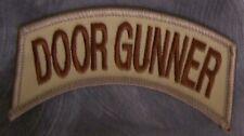 Embroidered Military Patch Vietnam Door Gunner shoulder tab NEW desert