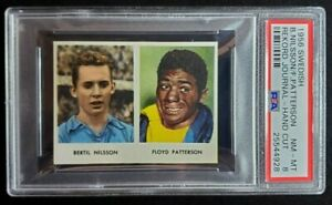 1956 Swedish Rekord Journal Floyd Patterson Boxing Card PSA 8 NM-MT POP 1