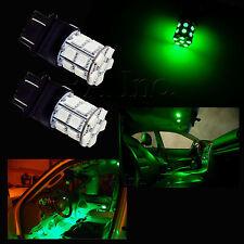 2x GREEN 3157 20-SMD 5050 LED Car Brake Stop Light Bulbs DRL Lamp Super Bright