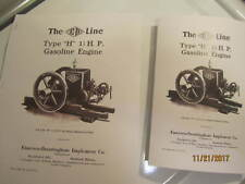 Two 1919 Emerson Brantingham 1 1/2Hp Type H Engine Sales/Info Manuals