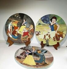 3 Disney Snow White and the Seven Dwarfs Knowles Collector Plates Numbered