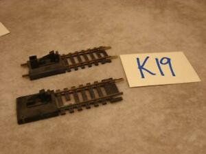 K19B VINTAGE HO SCALE BRASS TRACK BUMPERS