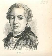 Comte puis duc Étienne-François de Choiseul 1719-1785 ministre de  GRAVURE 1883