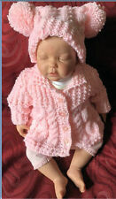 Aran Baby Coat and Hat Pattern. VR46