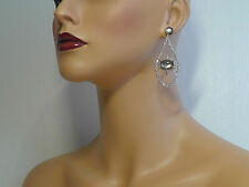 Alexis Bittar Black Mother of Pearl Doublet Encrusted Dangle Earring.*NEW**$295*