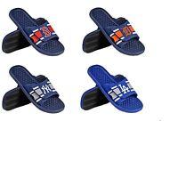 MLB Baseball Team Logo 2015 Mens Stripe Shower Slide Flip Flops - Pick Team