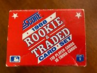 1988 Score Rookie & Traded Baseball Set- RC OF BIGGIO/ALOMAR/GRACE/BUHNER/LEITER