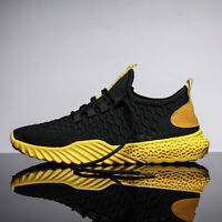 Men's Flyknit Sneakers Athletic Casual Shoes Breathable Running Ultralight Mesh