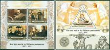 Martin Luther John Calvin 500 Reformation Protestantism Gabon MNH stamp set