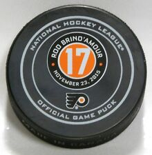 ROD BRIND'AMOUR #17 RETIREMENT PHILADELPHIA FLYERS OFFICIAL GAME PUCK 9900473