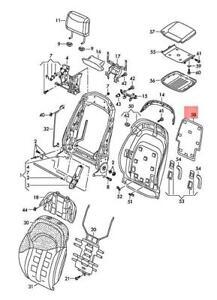 Genuine AUDI A8 S8 quattro 4H2 4H8 4HC 4HL Cover Titanium Grey 4H0881638ABC3