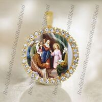 The Finding of the Child Jesus in the Temple Catholic Christian Gold Tone Medal