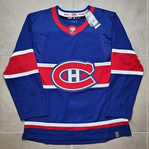 Size 50 Montreal Canadiens Reverse Retro Adidas Authentic NHL Jersey - blank