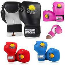 4oz Kids Boxing Gloves Children Cartoon MMA Sparring Training PU Gloves 5-10 Age