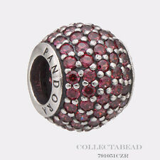 Authentic Pandora Sterling Silver Red Pave Lights Bead 791051CZR