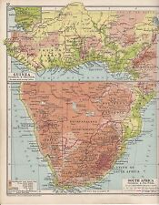 1931 MAP ~ SOUTH AFRICA & GUINEA TRANSVAAL RHODESIA FRENCH IVORY COAST