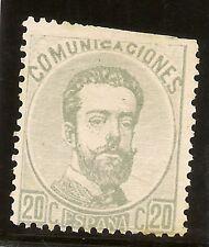 Edifil  123 (*)  20 Céntimos Gris  Amadeo I  1872   NL1047