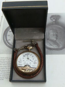 Hebdomas 8 Days Swiss Skeleton visible escapement pocket watch Pre-schild era VG