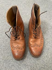 Grenson Fred Boots - Tan Colour - Commando Sole - Size 7