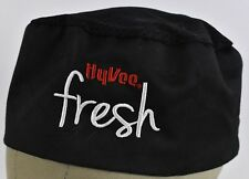 Black Hyvee Fresh Homegrown Embroidered Cooks Chef hat cap Adjustable