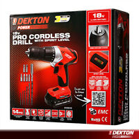 Dekton 18V Cordless Electric Drill Driver Screwdriver 13pc Drill & Bit Set LED