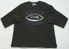 Seattle Seahawks Gray Long Sleeve Solid Men's XXL Thermal Shirt 2XL Junk Food