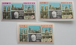 Great Britain Stroma 1968 - 3x in Memory Sir Winston Churchill MNH imperforated