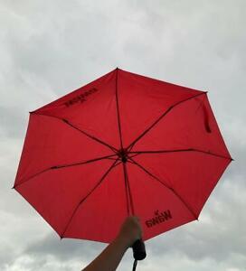 "WaWa Official Merchandise Small Rain Compact 42"" Red Travel Umbrella NEW"