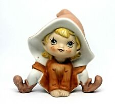 Antique Retired Ceramic Pixie Elf Figurine by Homco