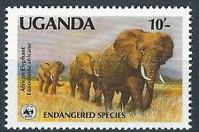 Uganda - Weltweiter Naturschutz Afrikanischer Elefant postfrisch 1988 Mi. 601