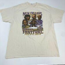New Orleans Music Festival 2019 T Shirt Men's XL Short Sleeve Cream