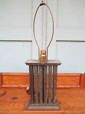 RE-PURPOSED      antique    TIN 12 CANDLE   stick   MOLD   table top / old lamp