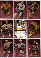 1999-00 BAP ITG Millennium Signatures Ruby Boston Bruins Team Set (9)