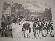 Príncipe de Gales en Madrid España Royal revisión en el Prado 1876 impresión Ref V