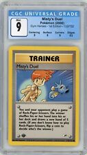 New listing Pokemon Misty's Duel Gym Heroes 1st Edition 123/132 CGC 9 Mint