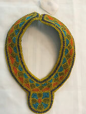 Handmade BEADED BIB COLLAR NECKLACE