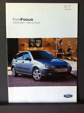 FORD FOCUS SPECIAL EDITION  2003 - FLIGHT & EDGE Sales Brochure