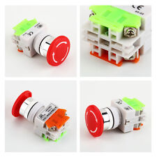 Red Sign Emergency Stop Switch Push Button Mushroom Push Button 4 ScrewTermin SL