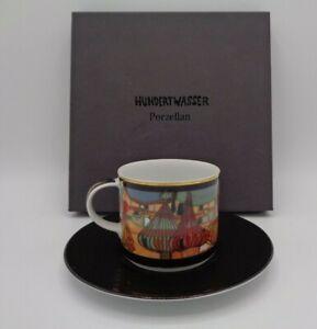 "Hundertwasser ""`L` Exspulsion"" Künstlertasse 2-Set Ars Mundi Exklusiv Edition"