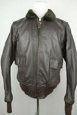 Vintage USN Flyer Type G-1 Leather Bomber Jacket Men Size 46 XL Vietnam Era