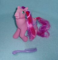 Rare Vintage My Little Pony G1 'Chatterbox' Sweet Talkin' Pink Pony + Comb - EUC