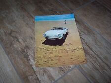 Catalogue / Brochure  TRIUMPH Spitfire Mk 4 1971 //