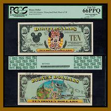 "Disney 10 Dollar, 1995 ""AA"" Series Minnie Mouse Disneyland PCGS 66 PPQ"