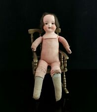 Antique bisque head doll, girl, small soft bodied, German, c1900s