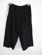 NEW Jade Jade Jade Silk/Rayon, Wide Leg Cropped Pants, Pocket, Black XL